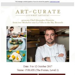 [Resorts World Sentosa] Art at Curate Series 8 Presents Chef Alexandre Dionisio from two-Michelin-star La Villa in the Sky, Brussels
