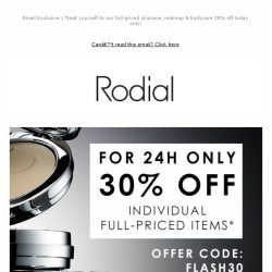 [RODIAL] 24H Only | 30% Off - Online Exclusive