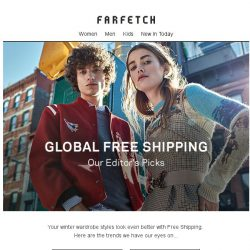 [Farfetch] Free Shipping | Find a new style pick-me-up