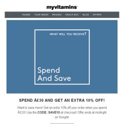 [MyVitamins] Save up to 60% PLUS an additional 10%!