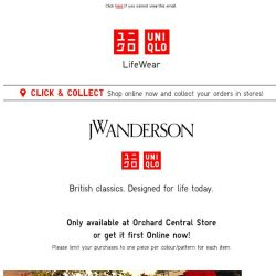 [UNIQLO Singapore] The JW ANDERSON Collection is here!