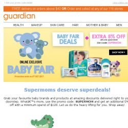 [Guardian] It is BACK! Baby Fair with 5% off for Supermoms! 🍼