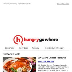 [HungryGoWhere] Savoury Seafood Delights: 1-for-1 Mussels, Chilli Crab from $9++, 2 Sri Lankan Crab @ $38 Nett, & more