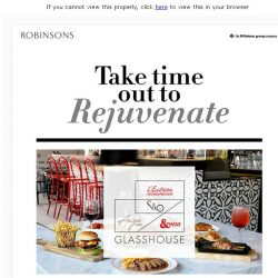 [Robinsons]  Take time out to Rejuvenate