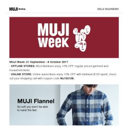 [Muji] MUJI Week is Here!