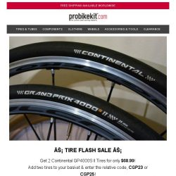 [probikekit] ⚡ Tire Flash Sale: Get 2 Continental tires for only $68.99!