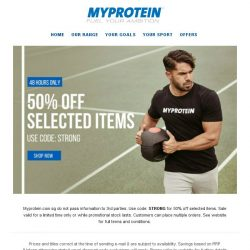 [MyProtein] 48 Hours Only - Half priced products now on!