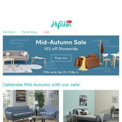 [HipVan] Celebrate Mid-Autumn with mooncakes and a sale😀