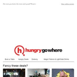 [HungryGoWhere] Earn cash just by making reservations on HungryGoWhere