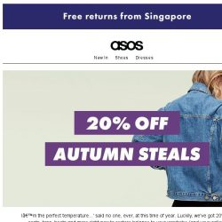 [ASOS] 20% off autumn steals