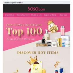 [SaSa ] 【GRAB HERO ITEMS】Sasa Store's TOP100 Items!