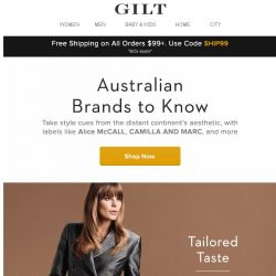 [Gilt] Australian Brands to Know: Alice McCALL, CAMILLA AND MARC, and more