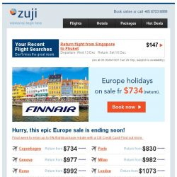 [Zuji] Magnifique! Your Europe holiday fr $734 (return)