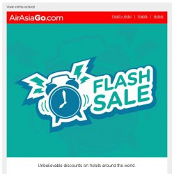 [AirAsiaGo] ⌚ Flash Sale | Starts Today! - Hotel deals up to 50% ⌚