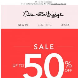 [Miss Selfridge] Up to 50% off IRL 😱
