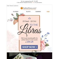 [FarEastFlora] For the evergiving Libras - 15% OFF