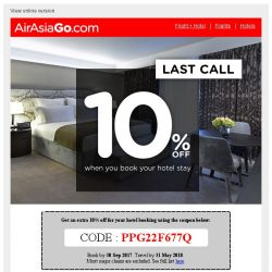 [AirAsiaGo] 🎁 Attention, 3 days left before this coupon expires! 🎁