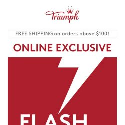 [Triumph] #FlashFriday: Click to discover the big offer!