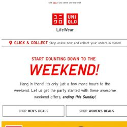 [UNIQLO Singapore] We hope these makes your Friday better!