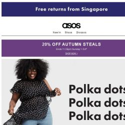 [ASOS] Spotted: new-season polka dots