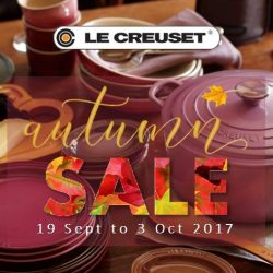 Le Creuset: Autumn Sale 2017 with 50% OFF Cast Iron Cookware