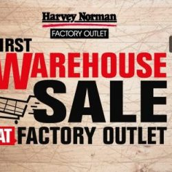 Harvey Norman: First Warehouse SALE at the Factory Outlet with Up to 90% OFF