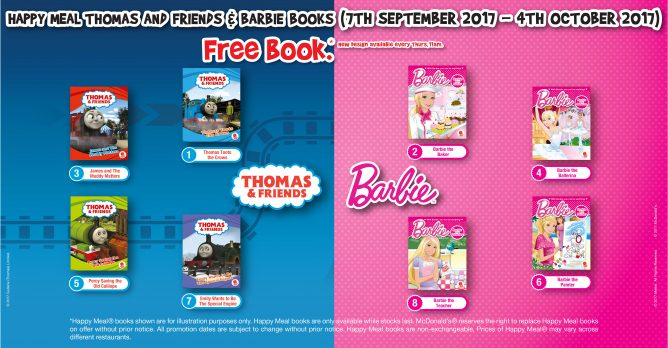McDonald's: FREE Thomas And Friends or Barbie Book with Every Happy Meal Purchased