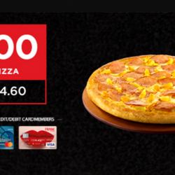 Pizza Hut: Enjoy S$3 Large Classic Pan or Hand Stretched Thin Pizza with OCBC Cards for Delivery!