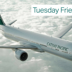 Cathay Pacific Airways: Tuesday Friend Fares with Two-to-Travel Fares From SGD$228 All-In Per Person