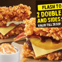 KFC: Flash Screenshot to Enjoy 2 Double Downs + 2 Whipped Potatoes for Just $9.90!