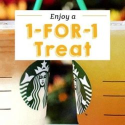 Starbucks: Enjoy 1-for-1 Treat on All Venti-Sized Beverages From 3pm to 5pm