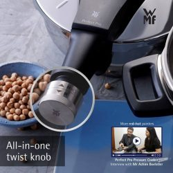 [WMF] Enjoy fuss-free, delicious cooking all in a twist of a single knob with our Perfect Pro Pressure Cooker.