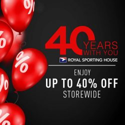 [Royal Sporting House Singapore] Up to 40% off your favourite sports apparel, footwear and accessories right here, right now.