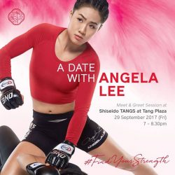 [Shiseidov] Shiseido invites you to FindYourStrength over an intimate evening with MMA World Champion, Angela Lee!