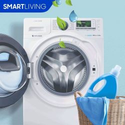 [Samsung Singapore] Do you know that excessive use of detergent when washing clothes can leave an unpleasant smell in your washing machine?