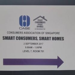 "[J Laser and Aesthetics] Here is our Hometech's director, Mr Yap, at the ""Smart Consumers, Smart Homes"" educational fair organised by Consumers Association"