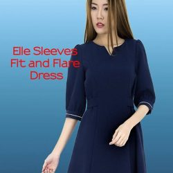 [MOONRIVER] Elle Fit and Fare Sleeves Dress - HOT SELLINGShop online @ www.