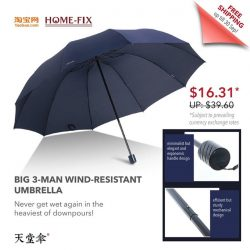 [Home-Fix Singapore] Be the envy of your friends and colleagues with this stylish monster of an umbrella!