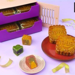 [Swee Heng Classic 1989] Presenting our pink-purple mooncake box elegantly, this is perfect for gift-giving!