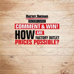 [Harvey Norman] Here is your chance to win $50 Harvey Norman vouchers!