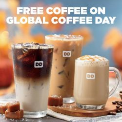 [Dunkin' Donuts Singapore] Take time to smell the coffee because Global Coffee Day is almost here!