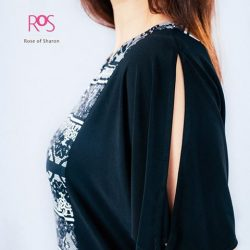 [Rose Of Sharon] B & W Paisely Knit DressS$153.