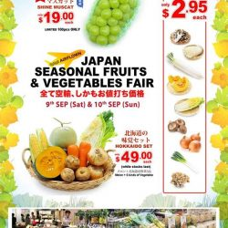 [Tampopo Grand] Our 3rd Japan Seasonal Fruits & Vegetables Fair will be extended to our Takashimaya Outlet this month!
