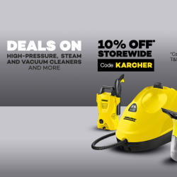 [Lazada Singapore] Shop on Karcher's official store with deals on high-pressure, steam and vacuum cleaners and more!