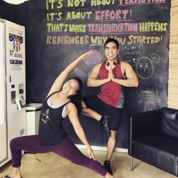 [Anytime Fitness] This is Jasmine and Magic Both of them are amazing Yogis  Yoga is one of the many group class offerings