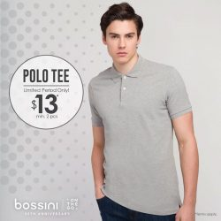 [Bossini Singapore] Stay dry in Bossini Singapore's Ztay Dry Polo Tee!