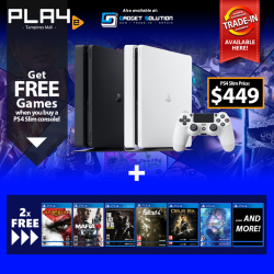 [GAME XTREME] October PS4 Slim Bundle【PROMO DURATION】 29/9/17 - 31/10/17【DETAILS】 This October, buy a PS4 Slim from
