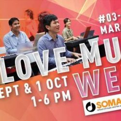 [Marina Square] SOMA PRESENTS: 'I LOVE MUSIC' WEEKEND 2017 30 Sept (Sat) and 1 Oct (Sun), 1 – 6pm School of Music and