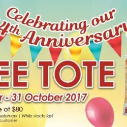 [Pet Lovers Centre Singapore] To commemorate our 44th anniversary, we'll be giving away a FREE tote bag for first time online customers who