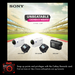 [Cathay Photo] There's no better way to document your action-packed holiday than with a SonyActionCam FDR-X3000.